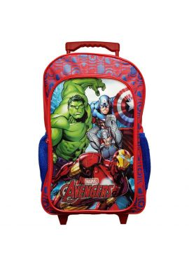 Marvel Avengers Large Luggage Trolley Backpack Rucksack Bag Suitcase Wheels Kids