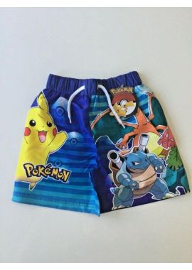 Children Beach Boys Shorts Pokemon Characters Swimming  Pikachu And Others Age 3-4, 5-6, 7-8 And 9-10 Years Boys