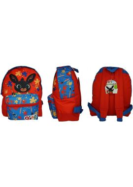 Bing Red-Blue Rucksack School Backpack With Small front Pocket Kids