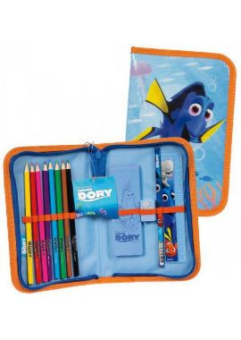 NEW FINDING DORY FILLED PENCIL CASE Zip up Bag Stationery Pouch Boys Kids