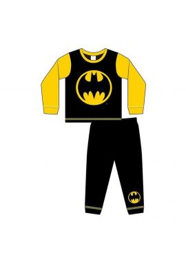 Boys Batman Logo Nightwear Kids Pyjamas Set Age 1.5-5 Years
