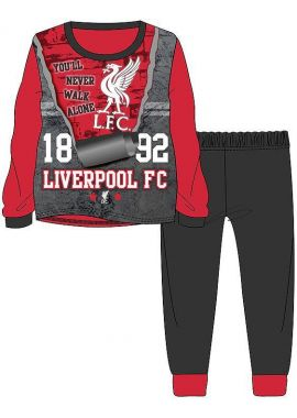 Boys Liverpool FC Football Sublimation Long Pyjamas 3-12 Years