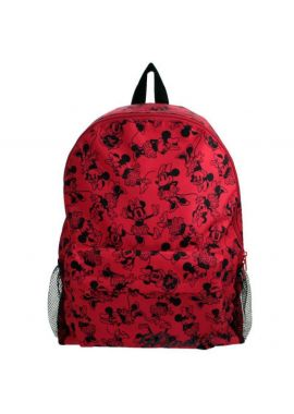 Disney Minnie Mouse Large Backpack Rucksack Bag Girls Roxy Red & Black NEW Gift