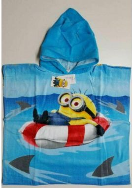 Despicable Minions Poncho Beach Bath Towel For Girls And Boys Pink And Blue