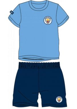 Manchester City FC Official Football Boys Gift Short Pyjamas 3/4, 5/6, 7/8, 9/10 and 11/12 years kids