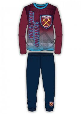 Official West Ham United Crest Adults Pyjamas and Lounge Pants Set Age 4-5,5-6,7-8,9-10 and 11-12 Years