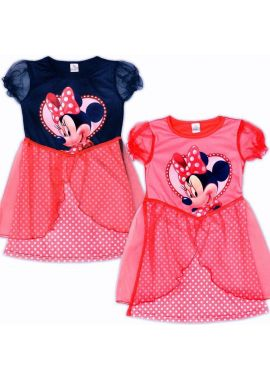 Girls Dress Disney Minnie Mouse Fancy Costume Red/Black Age 3/4 And 5/6 Years