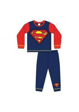 Boys Superman Logo Nightwear Pyjamas Set 1.5-5 Years