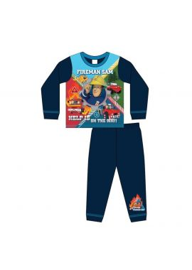 Boys Toddler Fireman Nightwear Pyjamas Set Age 1.5-5 Years