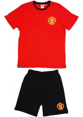 Manchester United Football Club Shorts Adults Pyjamas Licenced Short Sleeve Sizes Small Medium Large And X Large