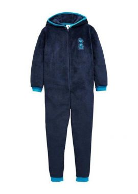 Official Boys Tottenham FC Hooded Fleece Zipper Sleepsuit Romper 3 - 12 Years