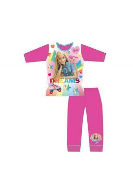 Barbie Girls Pink Long Sleeve Pyjamas Set Dreams Cute Age 3/4, 5/6 And 7/8 Years