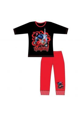 Miraculous Ladybug Black Girls Nightwear Pyjamas Set 4-10 Years
