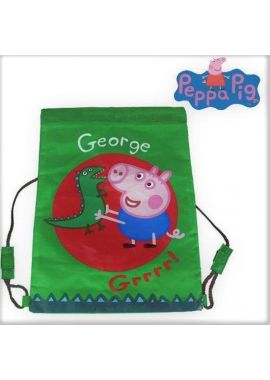 Peppa Pig George Boys Green Peppa Pig And Crocodile character Gym Trainer Sports Bag