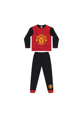 Manchester United FC 1878 Boys Long Sleeve Pyjama Set 4-12 Years