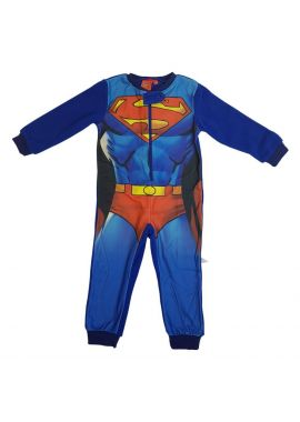 Boys All In One Pyjamas Sleepsuit Superman Sizes from 3 to 8 years