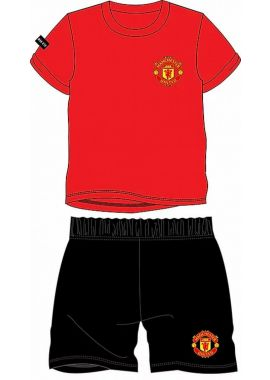 Manchester United FC Official Football Boys Gift Short Pyjamas 3/4, 5/6, 7/8, 9/10 and 11/12 years kids