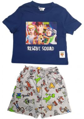 Latest Ex Chainstore Toy Story Boys Blue Shorts Set Nightwear With Woody, Buzz Lighter Age 1.5/2, 2/3, 3/4, 4/5, 5/6 Years