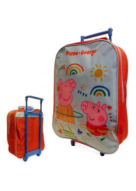 Peppa Pig Boys Girls Light Trolley Bag Kids Luggage Wheeled Bag Suitcase Travel Gift