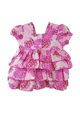 Baby Girls Dress and pants Set hat included Age from 0 to 9 months
