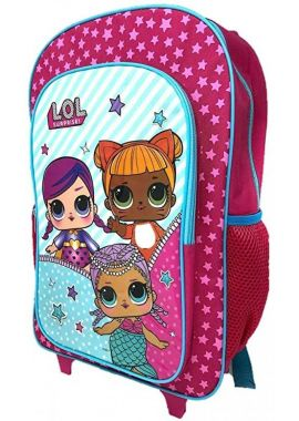 Official Girls Deluxe Trolley Backpack With Front Pocket LOL