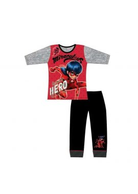Girls Miraculous Ladybug Hero Long Sleeve Pyjamas Red Kids Age 4-5, 5-6, 7-8 And 9-10 Years