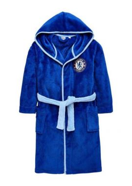 Chelsea FC Hooded Dressing Gown Bathrobe Boys Size 3 to 13 years