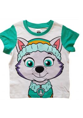 Paw Patrol Boys/Girls Everest Short-Sleeved Face T-shirt/Top Age 2 to 7 years