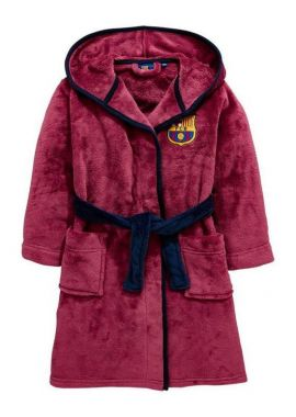 FC Barcelona FCB Hooded Dressing Gown Bathrobe Boys Size 3 to 13 years