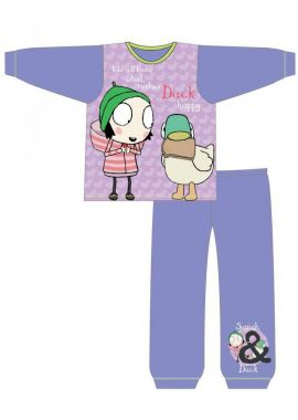 Latest Branded Sarah & Quack Duck Purple Girls Nightwear Pyjamas Age 18-24 Months, 2-3, 3-4 And 4-5 years