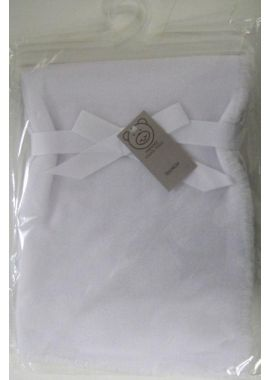 Luxury Super Soft Baby Blanket White Plane Design White
