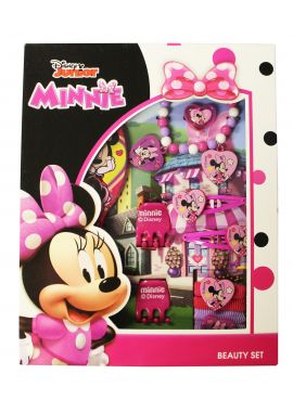 Official Girls Disney Character Minnie Mouse 11Pcs Hair Accessories Set Kids Gift