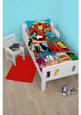 Marvel Comics Strike Junior Bed Set Quilt Duvet Set