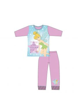 Girls Tinkerbell Dream Fly Faster Nightwear Pjs Pyjama Set 4-10 Years