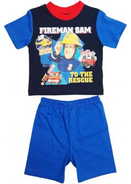Boys Fireman Sam To The Rescue Short pyjamas Blue Age 12/18, 18/24 Months, 2/3, 3/4 Years