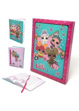 Lol Surprise Glitter Diary Hard Cover Note pad Journal Notebook Organiser For Girls
