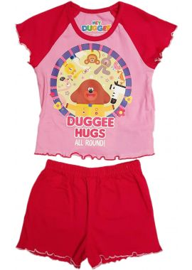 Hey Duggee Short Pyjamas With Duggee hugs All Around Summer Shortie Pink Age 12/18, 18/24 Months, 2/3, 3/4 Years