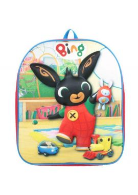 BING BUNNY Backpack Rucksack Bags Boys Girls Childrens 3D Bag Textured