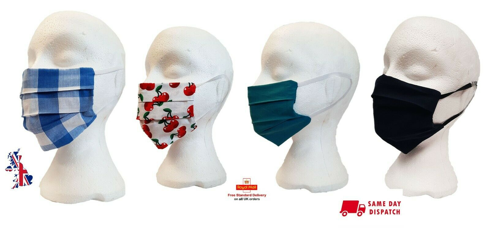 Face Mask Washable Reusable Mouth Covering Double Layered Adult